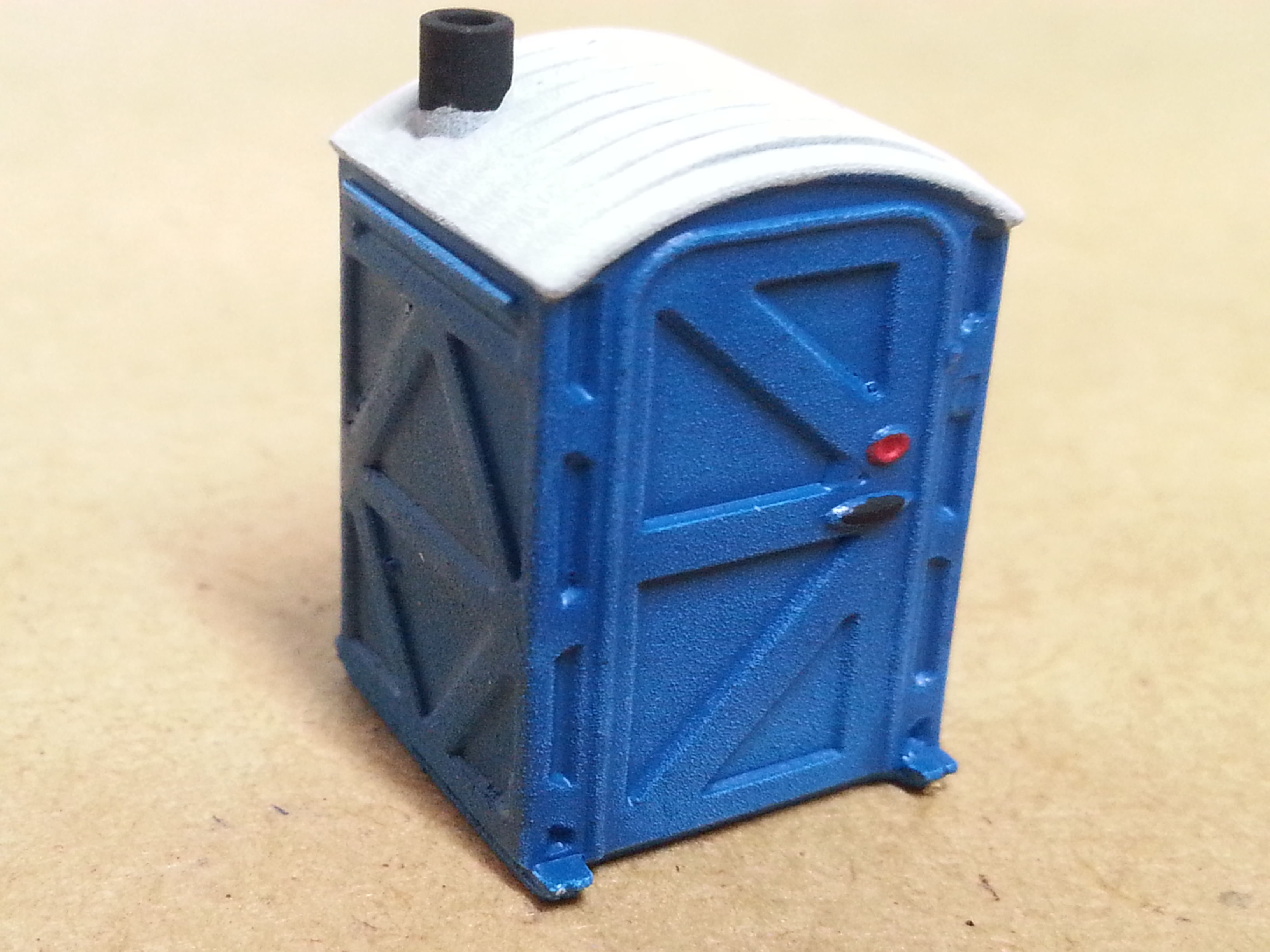 HO scale port-a-potty x4