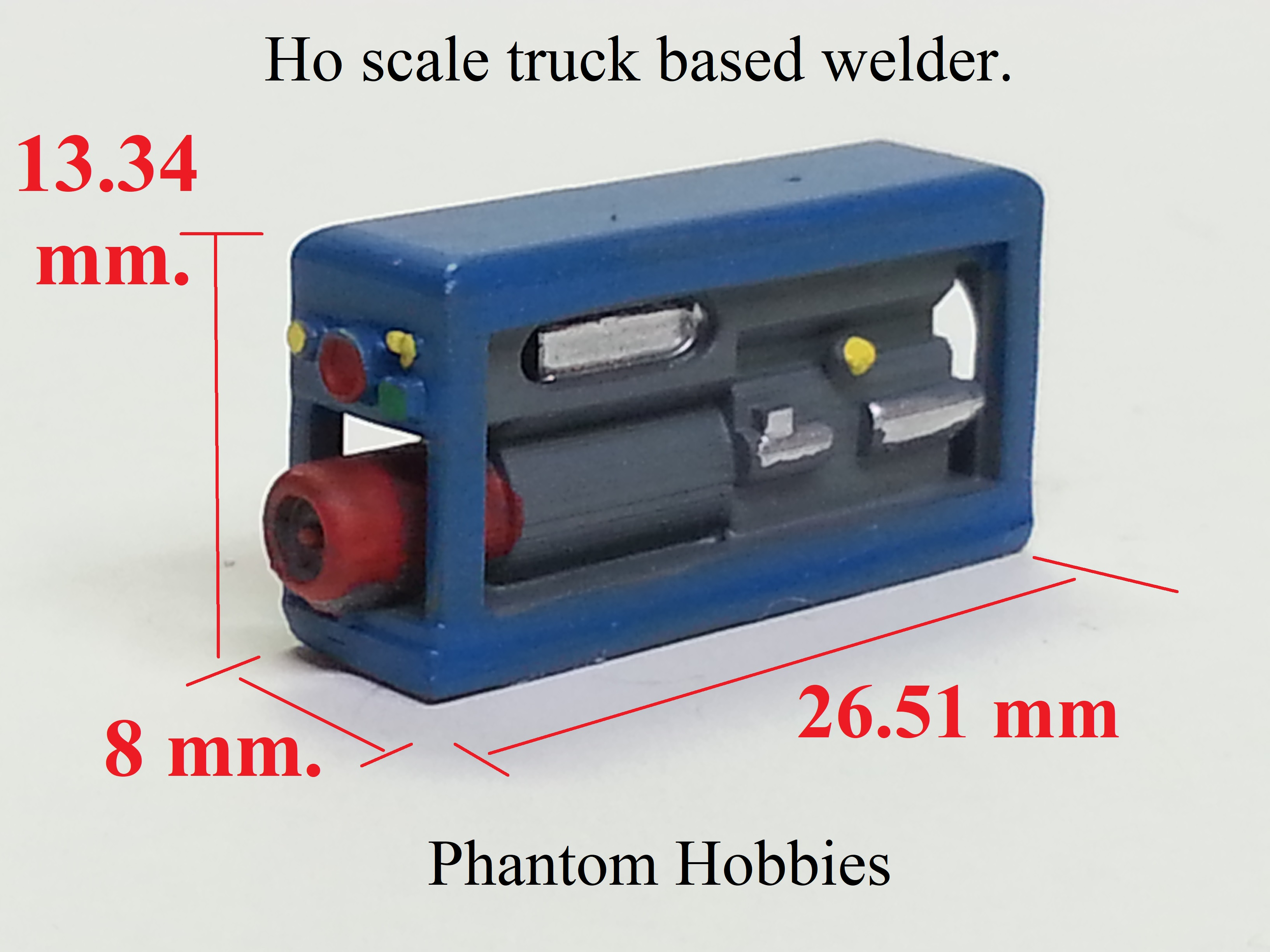 Ho scale truck based welder