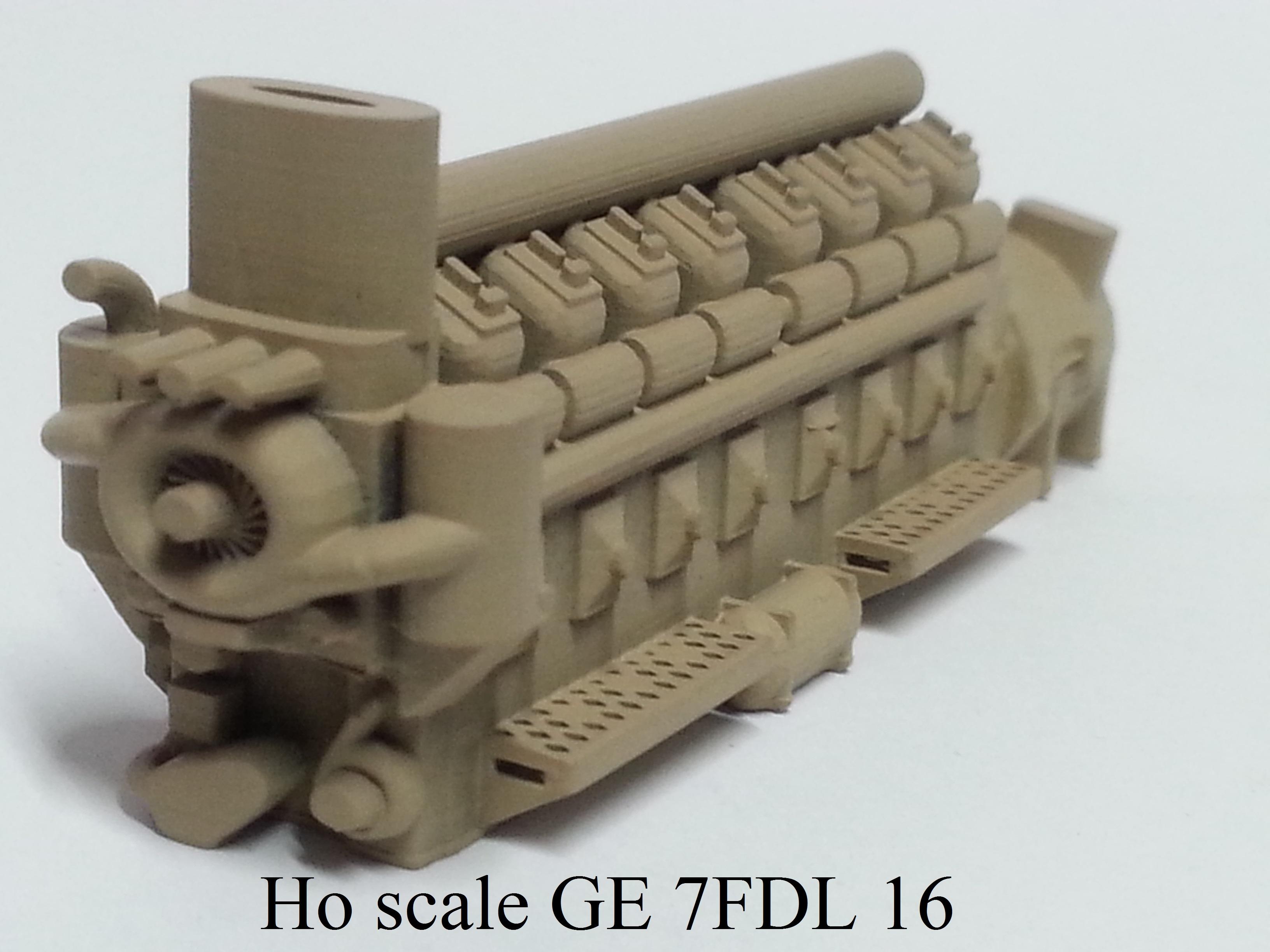 Ho scale GE 7FDL 16