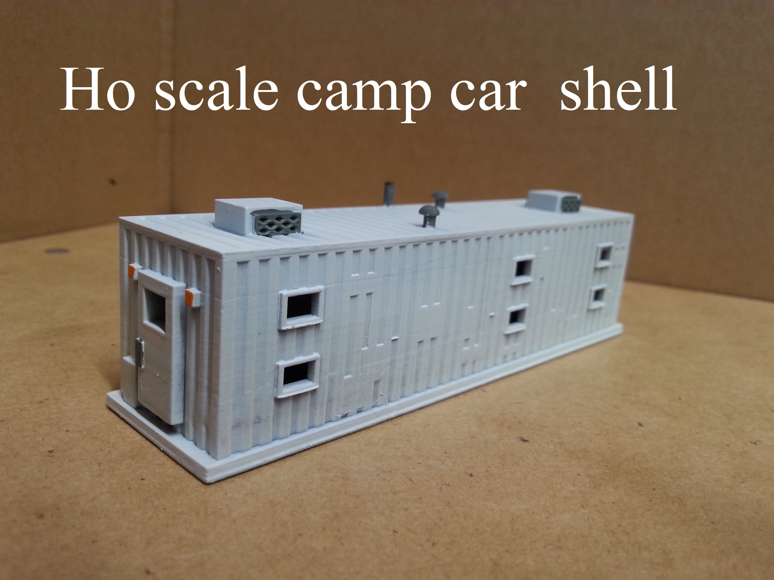 Ho scale Camp Car shell