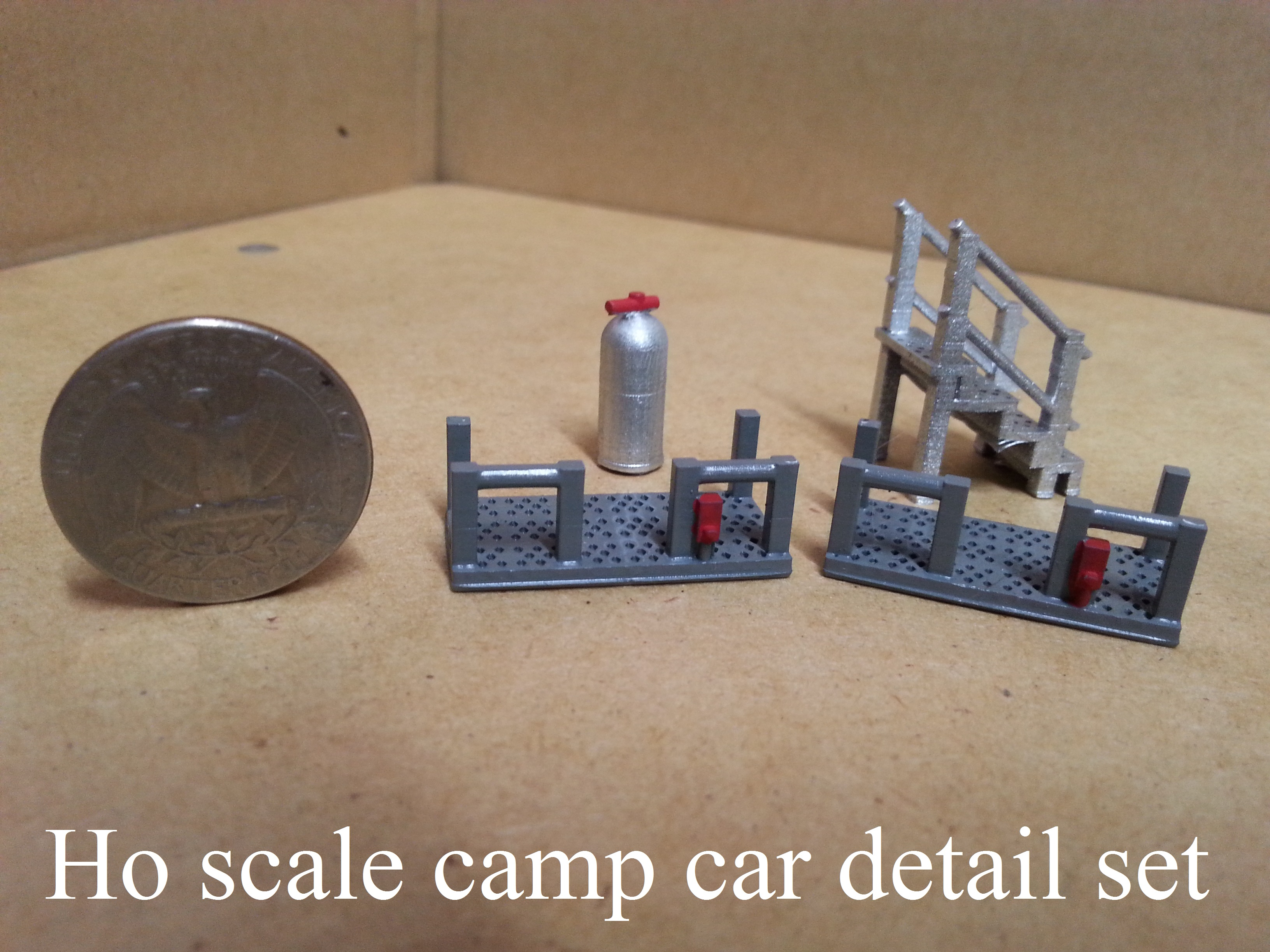 Ho scale M of W camp car detail set