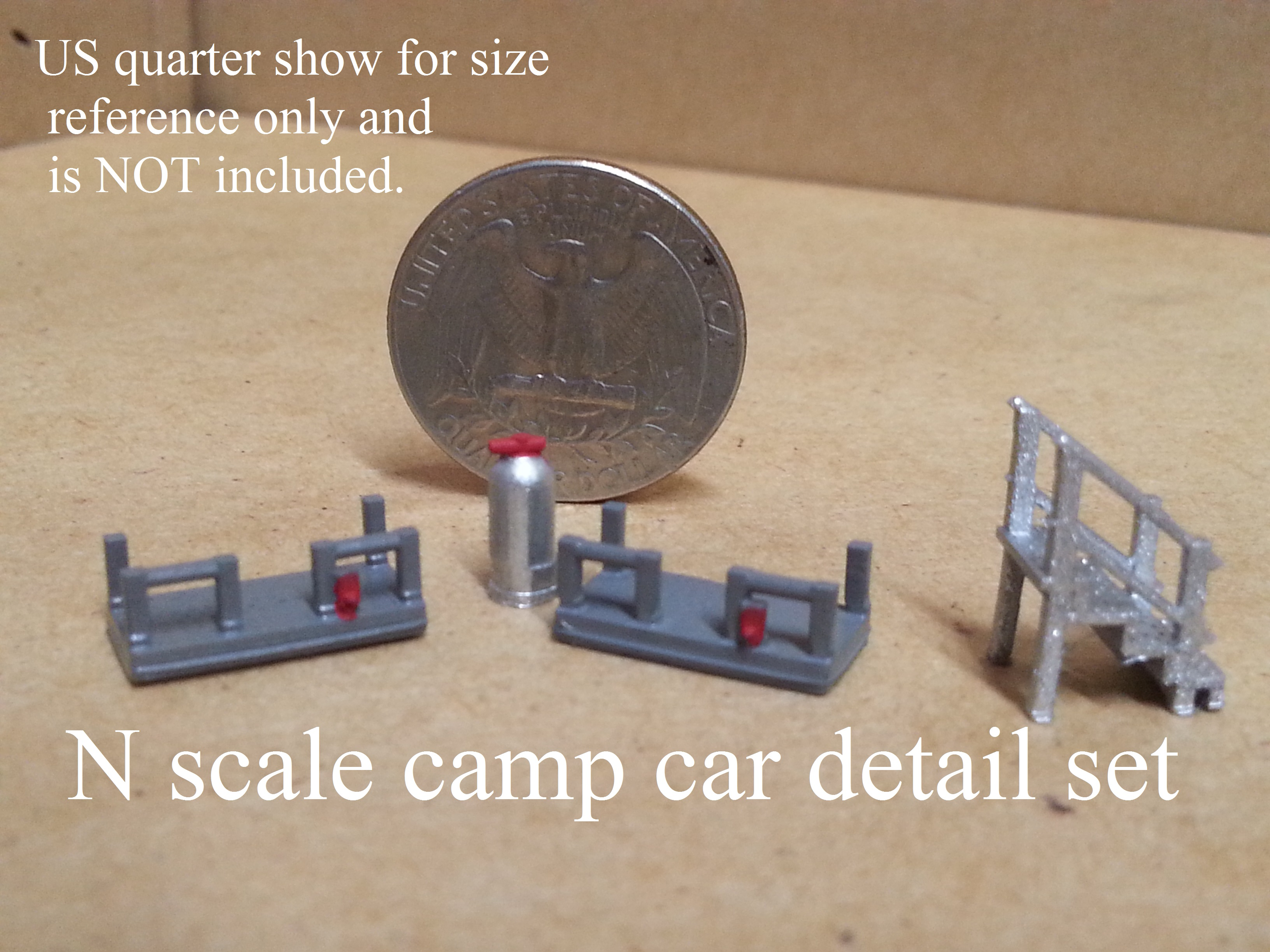 N scale M of W camp car detail set