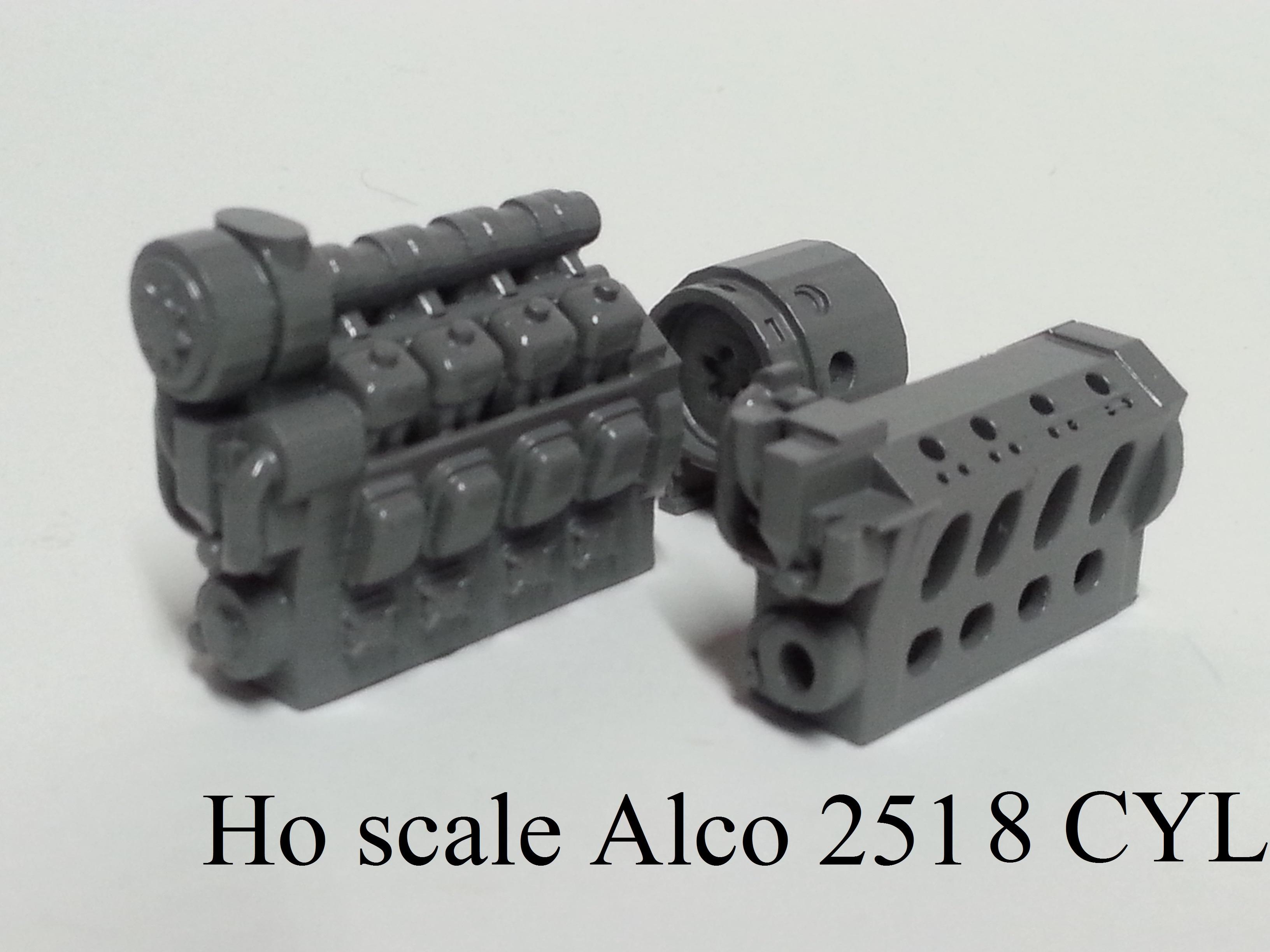 Ho scale Alco 251 8 cyl. Prime Mover