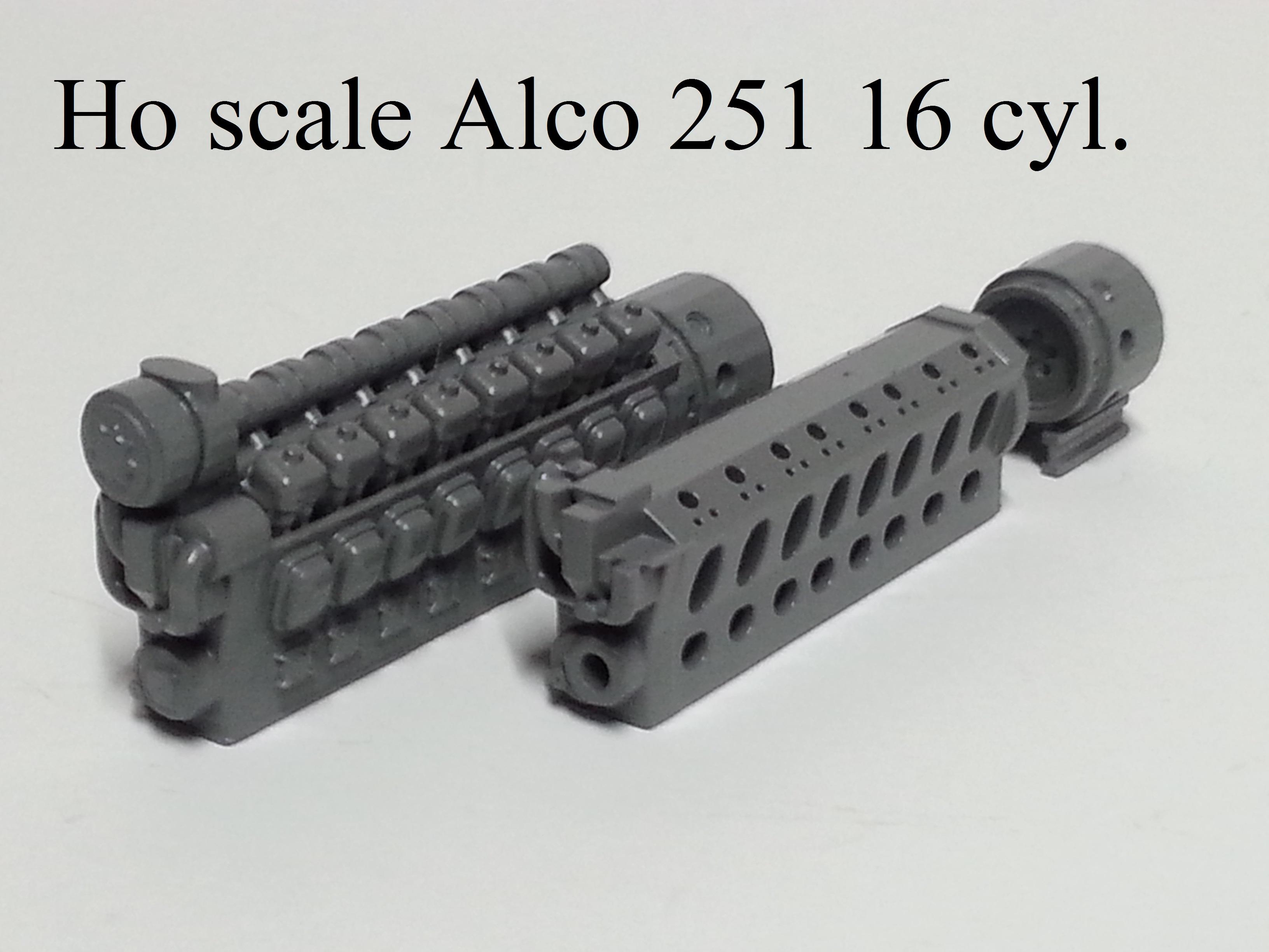 Ho scale Alco 251 16 cyl. Prime Mover