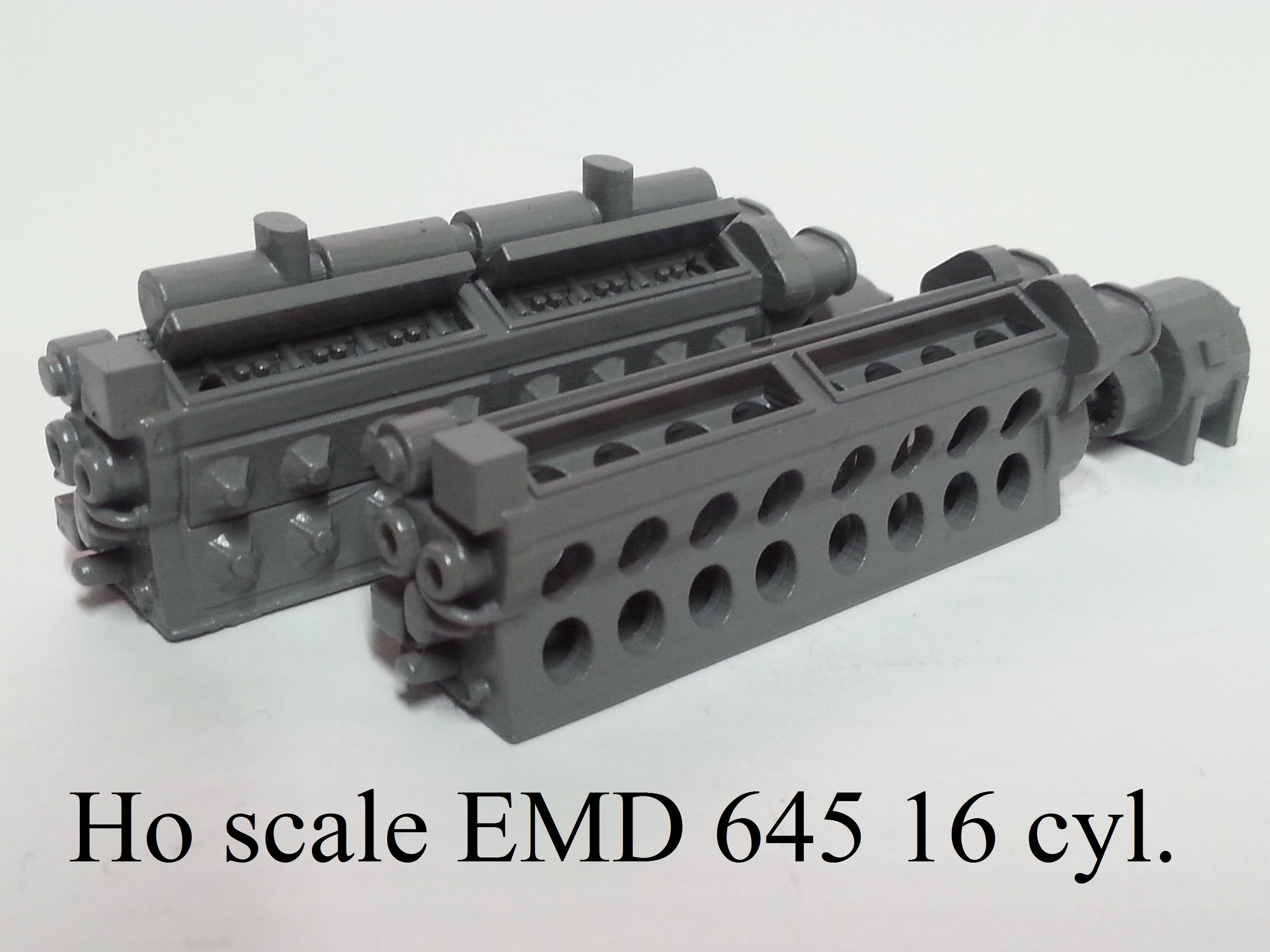 Ho scale EMD 645 16 Cyl. Prime Mover