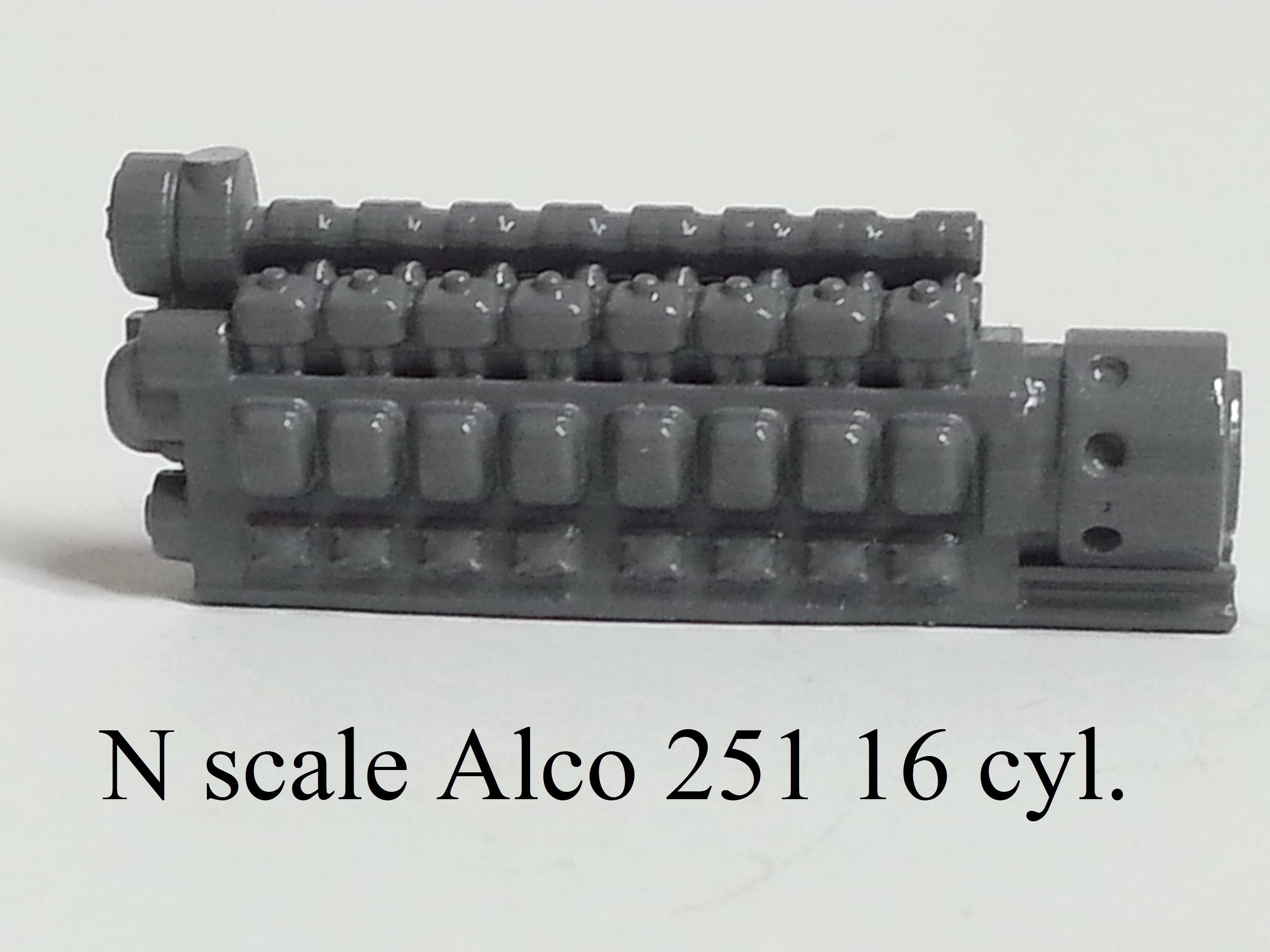 prime mover Ho scale Alco 251 16 CYL