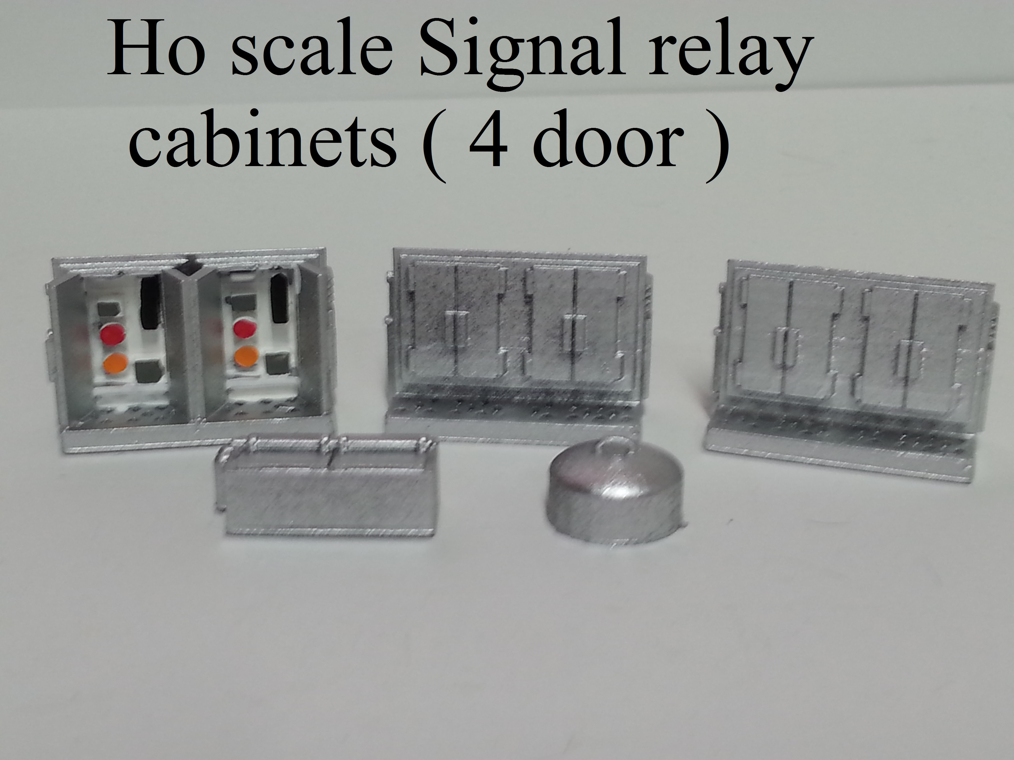 Ho scale Signal relay cabinets ( 4 door )