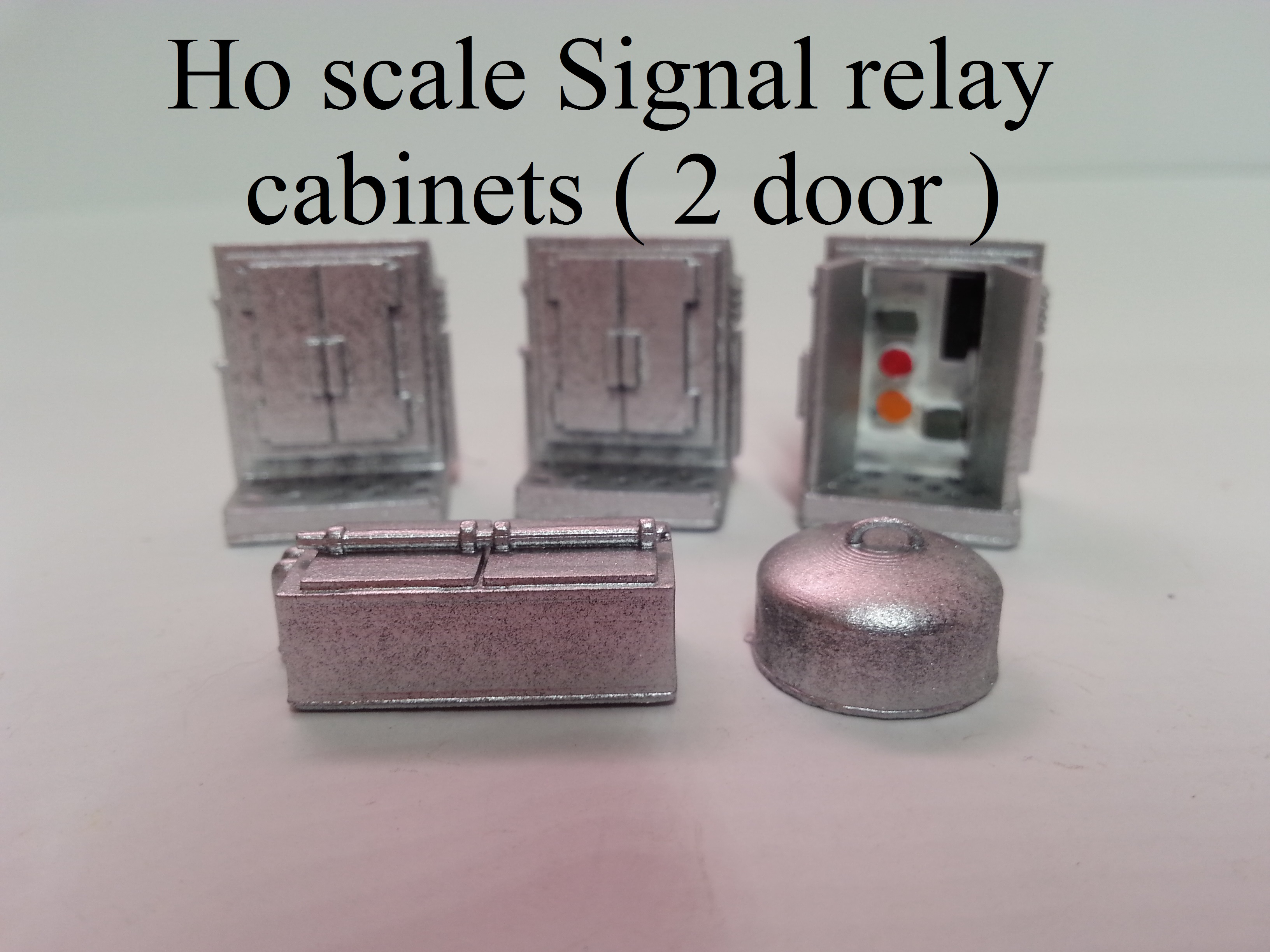 Ho scale Signal relay cabinets ( 2 door )