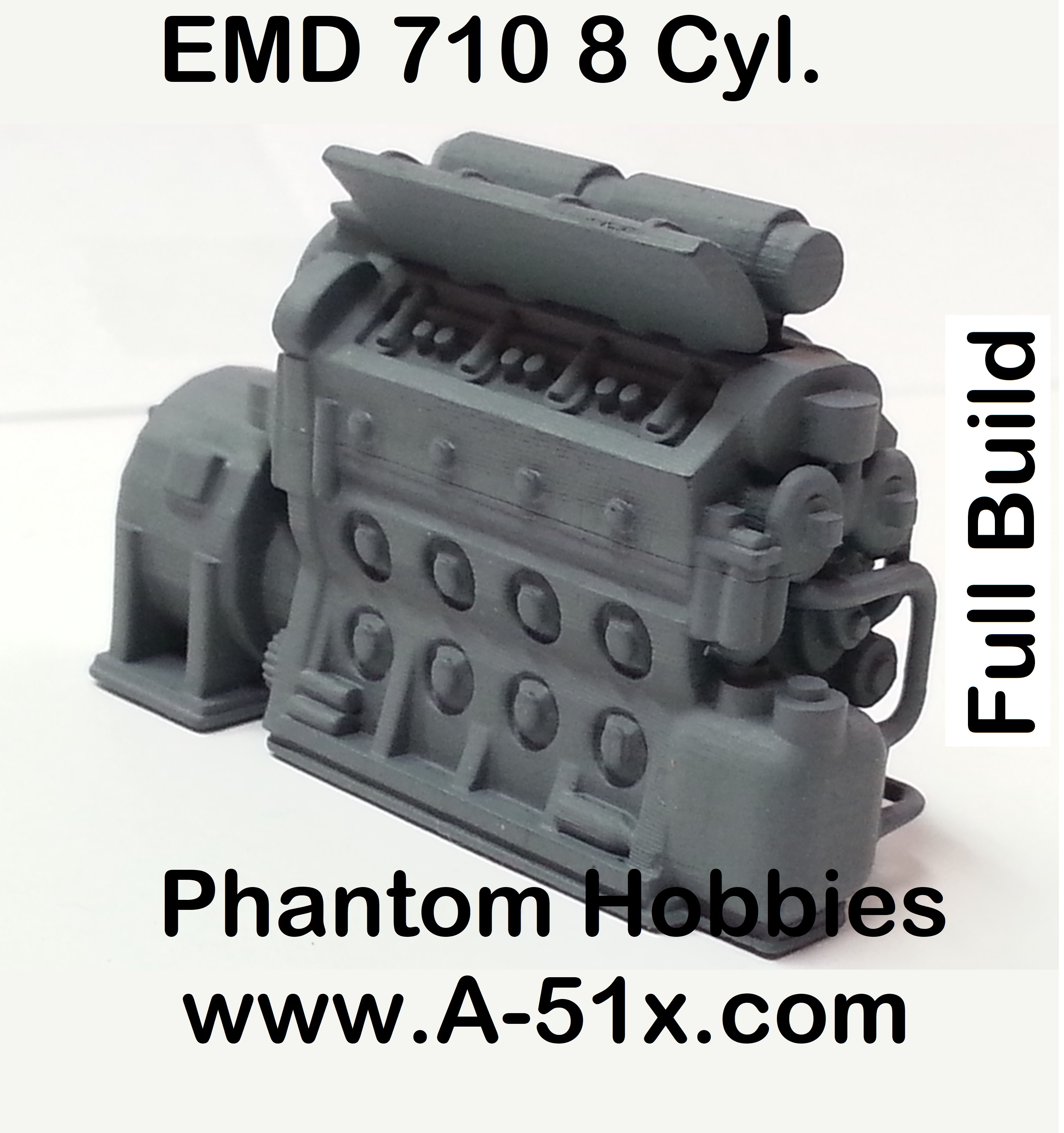 Ho scale EMD 710 8 Cyl