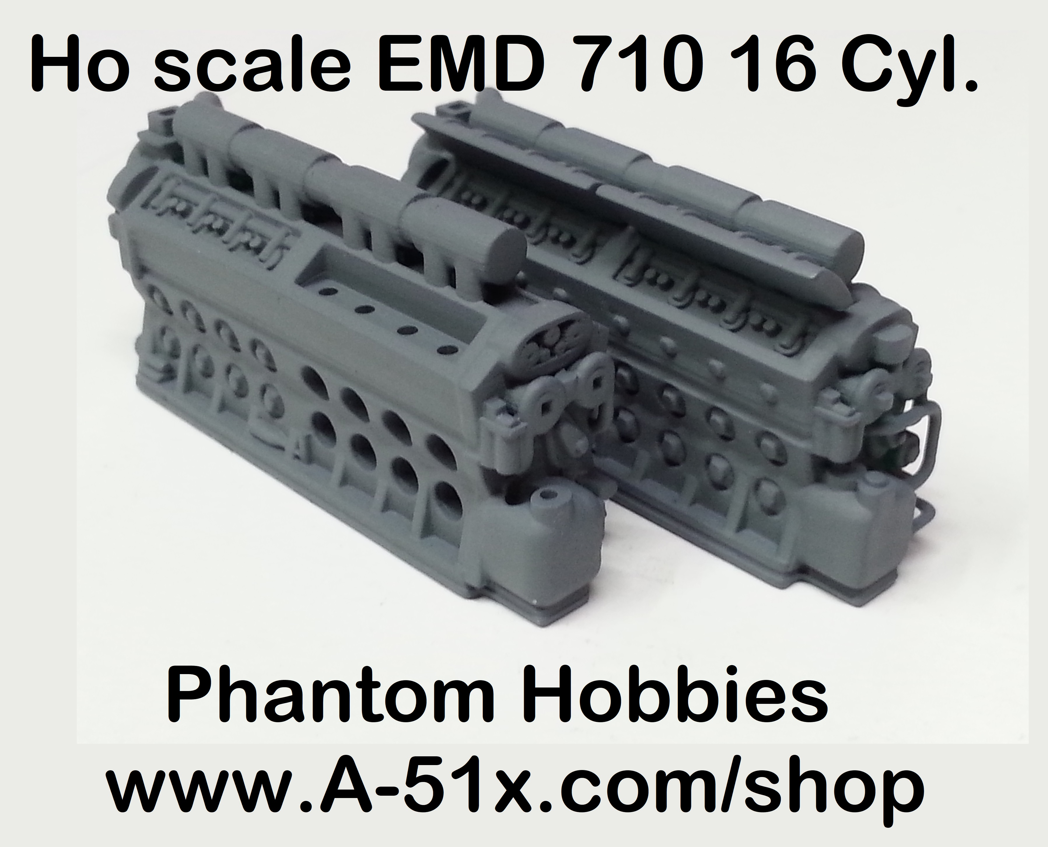 Ho scale EMD 710 16 Cyl.