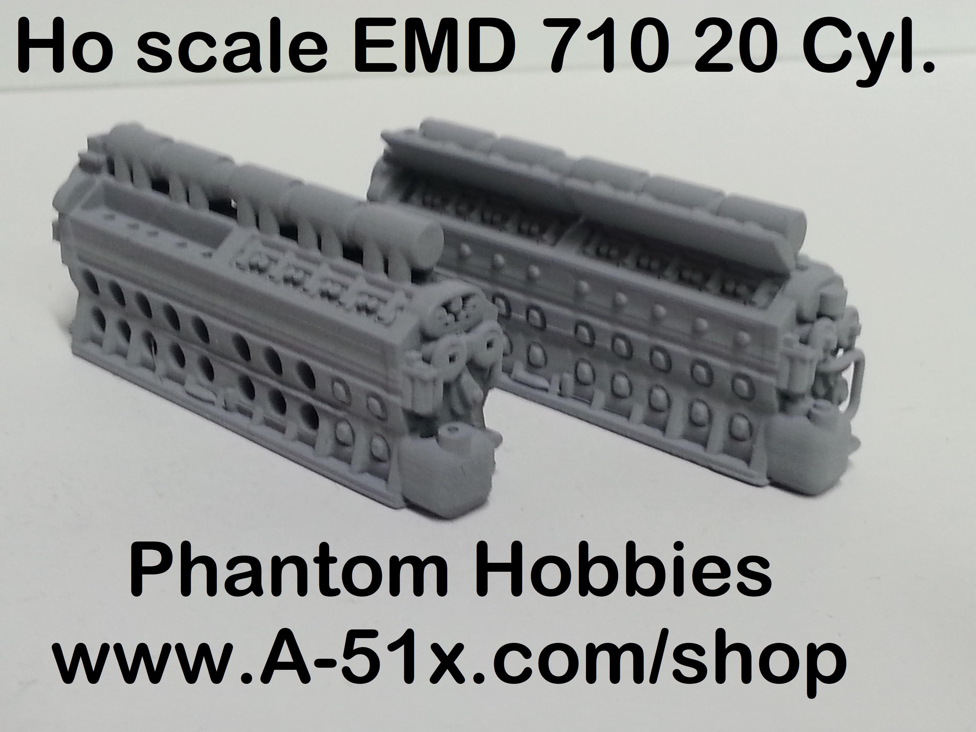 Ho scale EMD 710 20 Cyl.