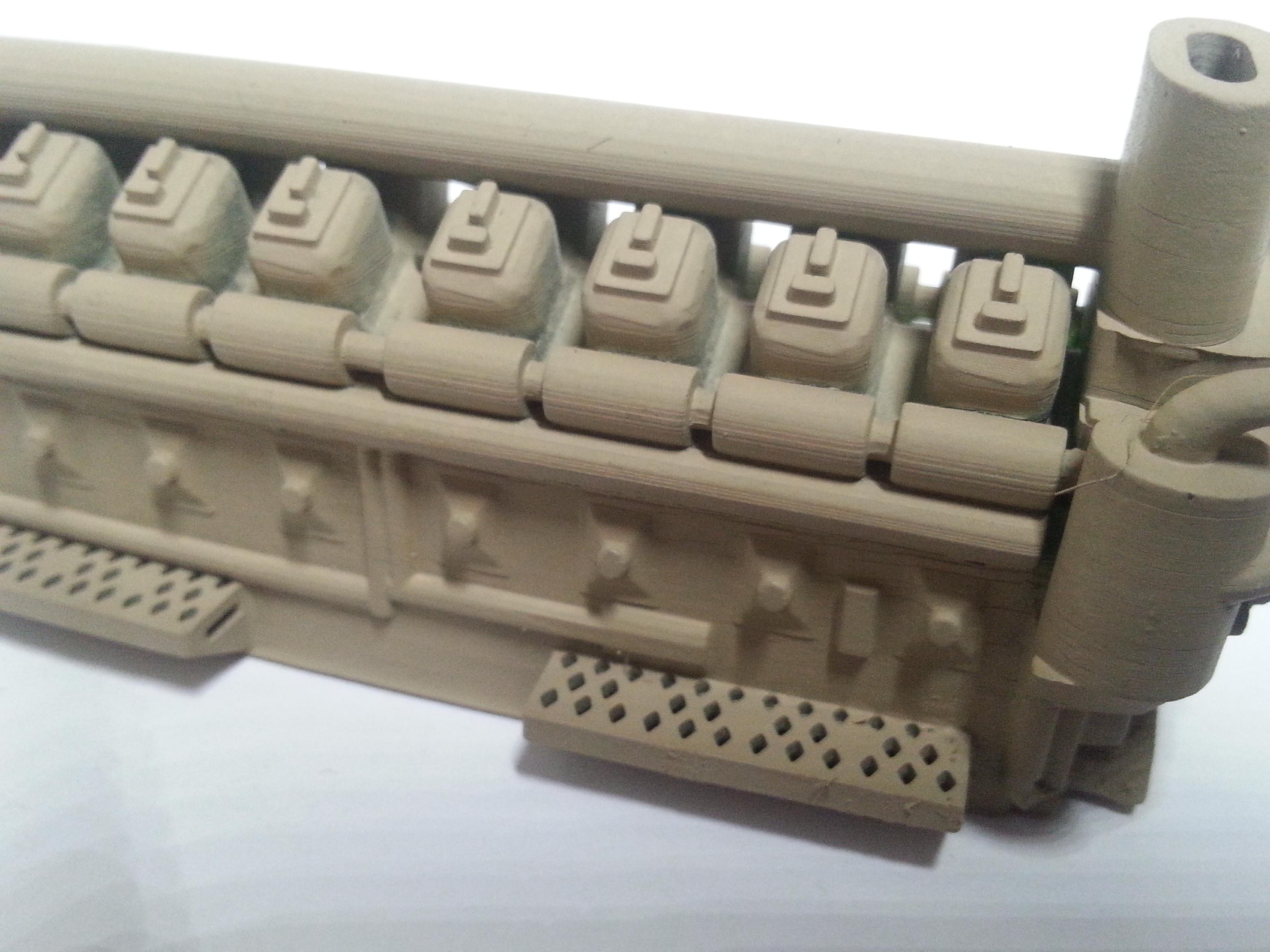 O scale GE 7 FDL 16 Prime mover