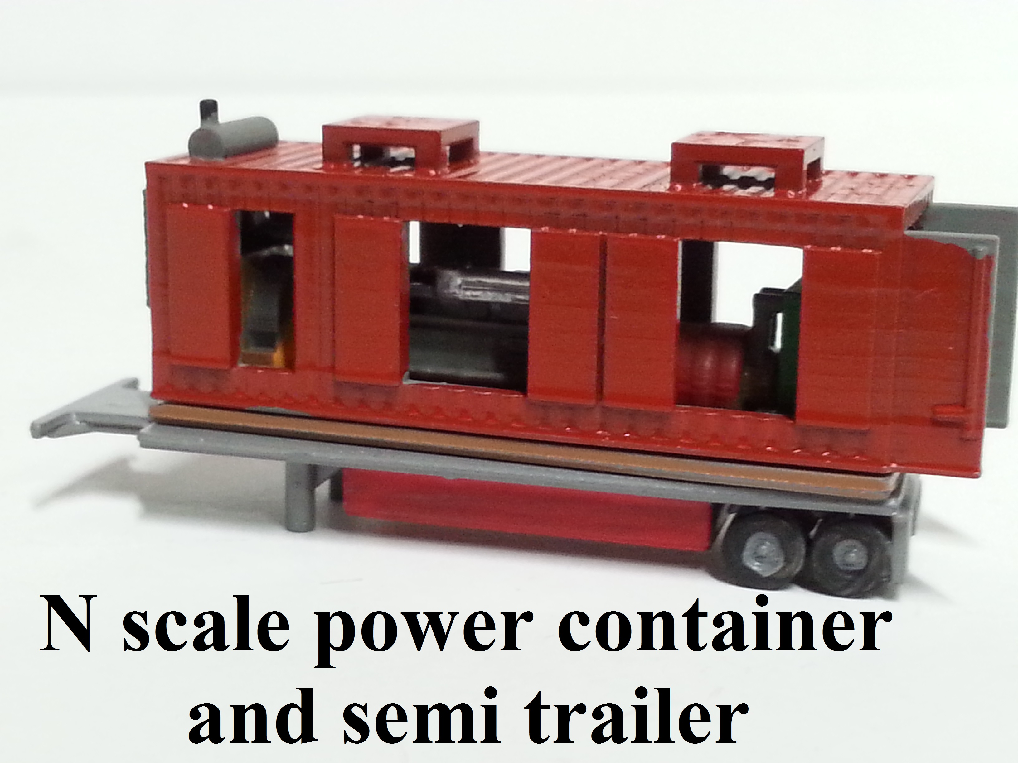 N scale M of W Power container gen. set and semi trailer